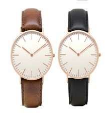 Pack of 2 Analogue Watches with Leather Strap